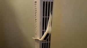 Fitness Tracker Stuck in Vertical Fan