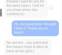 Messages about painting class