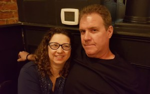 David and I at the restaurant